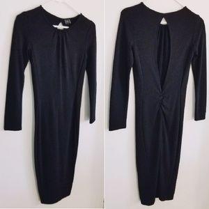 *LBD* NWOT Zara Open Back Midi Dress